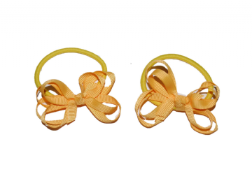 Pony Elastic Bows - Gold